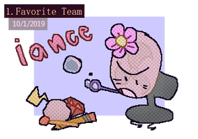 objectober - favorite team [day 1]