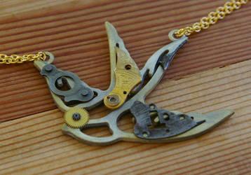 Golden Gunmetal Swallow by SleeplessStoryteller