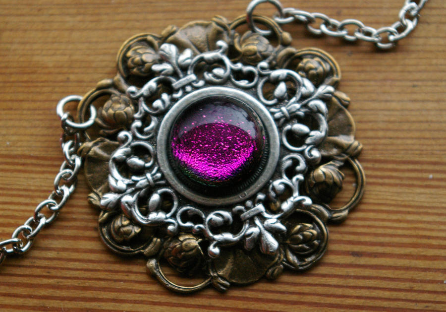 Amethyst amulet glowing glass pendant by sleeplessstoryteller on amethyst amulet glowing glass pendant by sleeplessstoryteller mozeypictures Choice Image