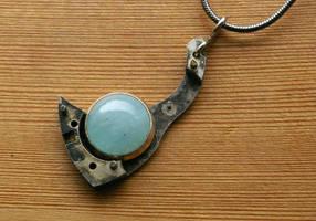 Tarnished Tear Aquamarine Pendant