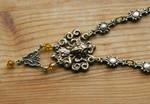 Sleeping Golden Gaia Brass Necklace