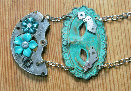Mechanical Masquerade Upcycled Steampunk Necklace