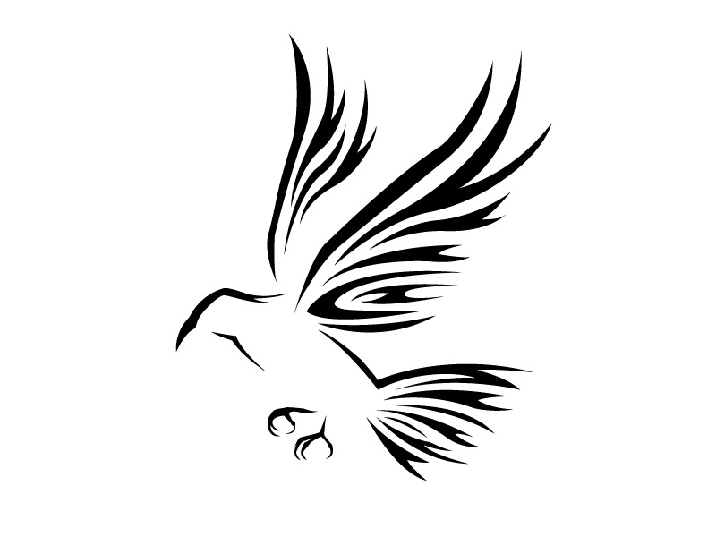 tribal crow by neslockheart on deviantart rh deviantart com Realistic Crow Tattoo tribal crow tattoo meaning