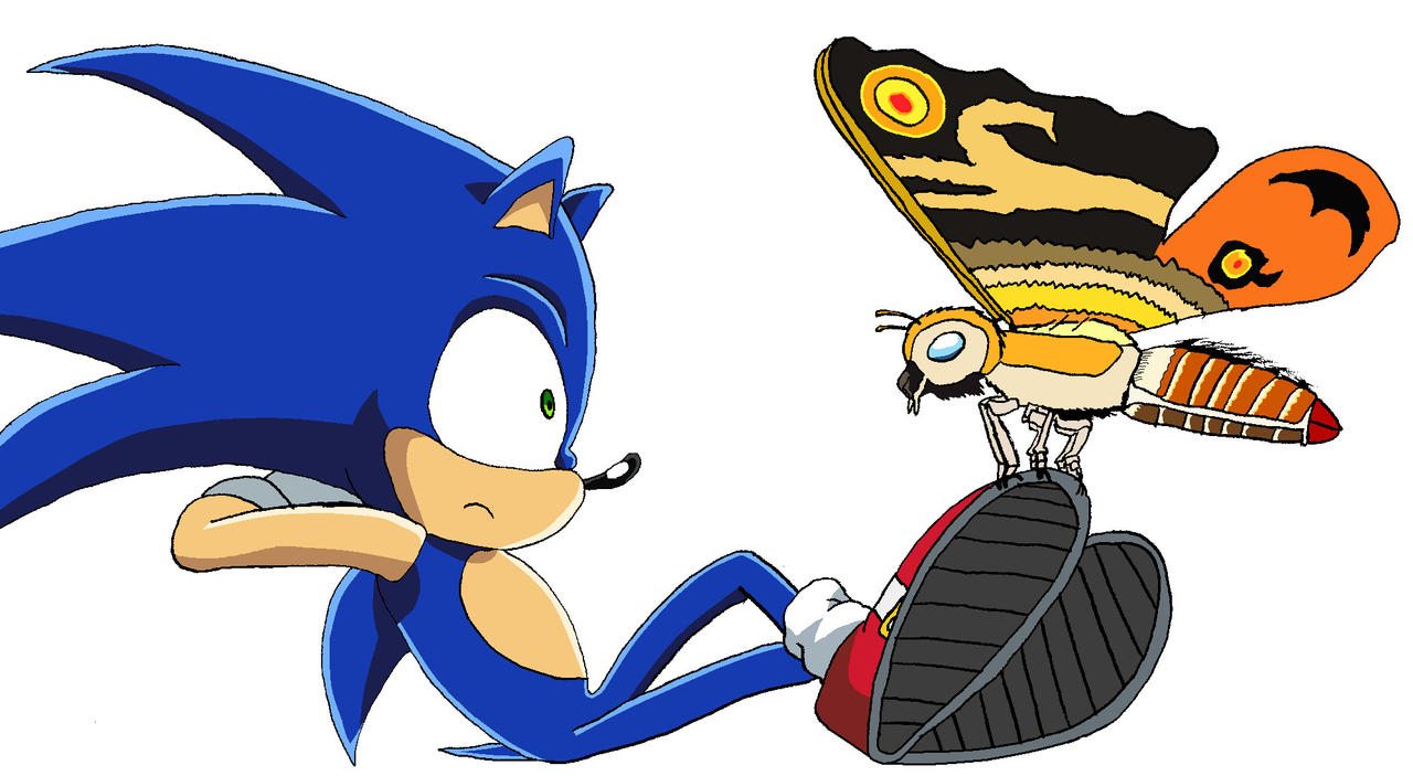 Sonic meets Fairy Mothra by BigJohnnyCool