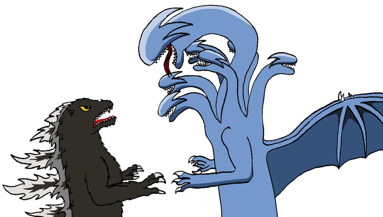 Godzilla vs. Daihydra by BigJohnnyCool