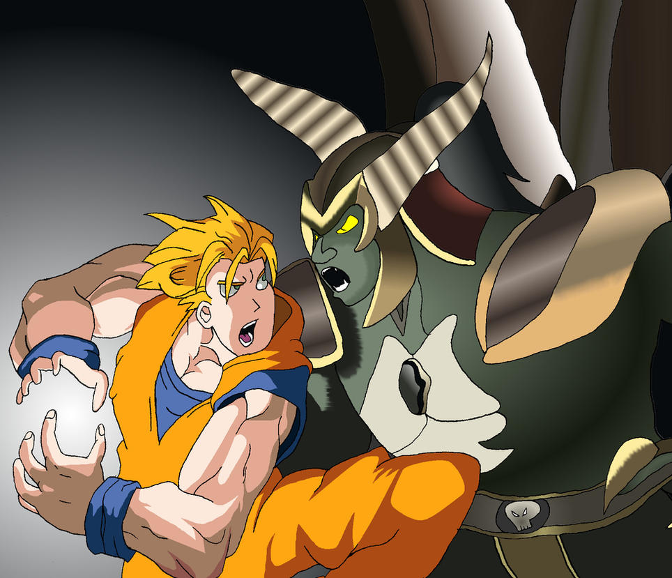 Goku vs Onaga by BigJohnnyCool on DeviantArt