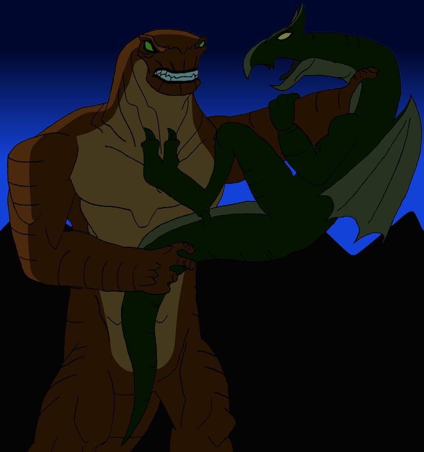 Humongosaur vs. The Dragon by BigJohnnyCool