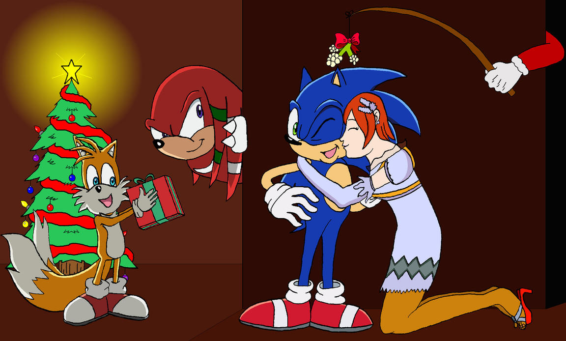 Christmas with Sonic and Co. by BigJohnnyCool