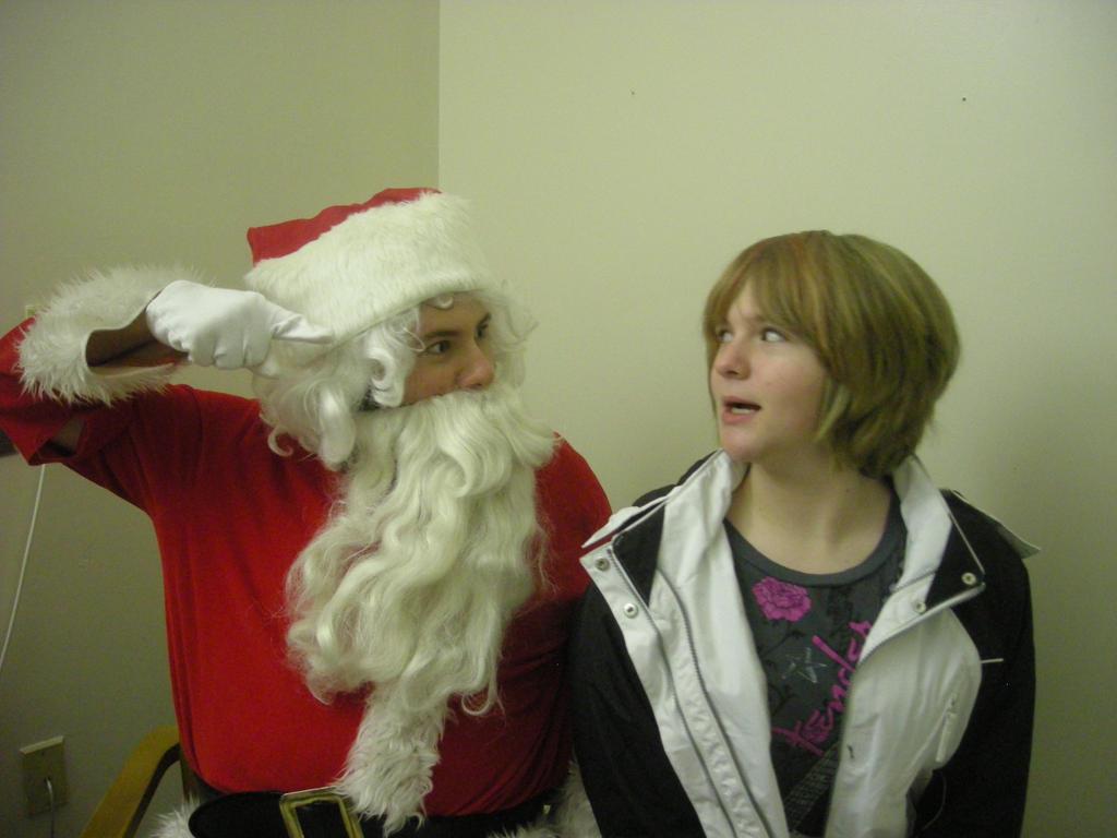 Santa and his Sister by BigJohnnyCool