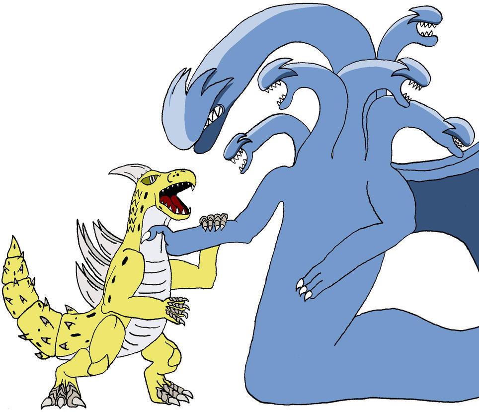 Geckoro vs. Daihydra: Rematch by BigJohnnyCool