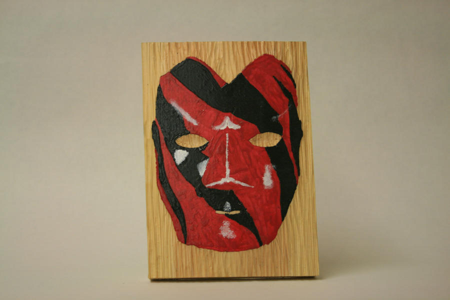 Wood Carve of Kane's Mask by BigJohnnyCool