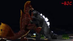 [MMD] Godzilla 1975 vs. Titanosaurus by BigJohnnyCool