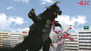 [MMD] Ultraman X vs. Gomess (S) by BigJohnnyCool