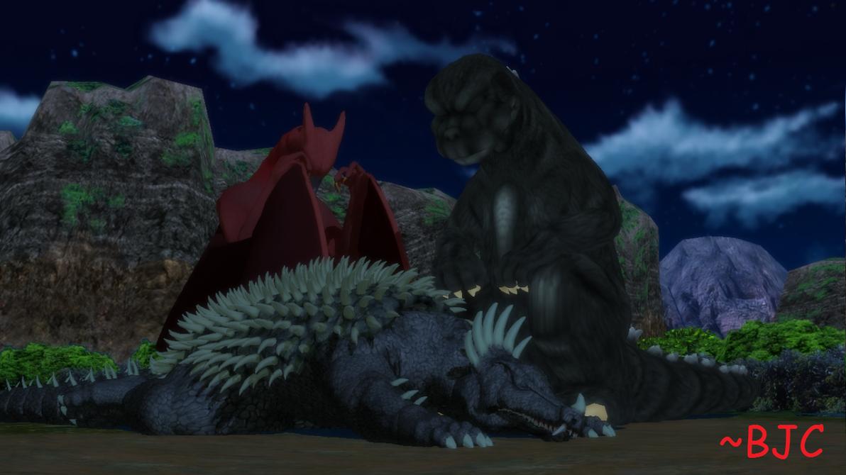 [MMD] More Sleepy Kaiju by BigJohnnyCool