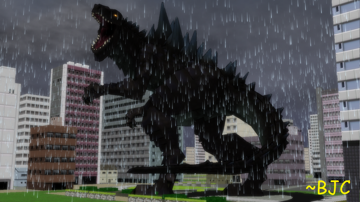 [MMD] Zilla in the Rain (Rexy re-creation) by BigJohnnyCool