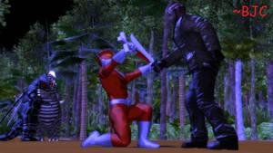 [MMD] Territorial Disbute: Redman vs. Jason by BigJohnnyCool