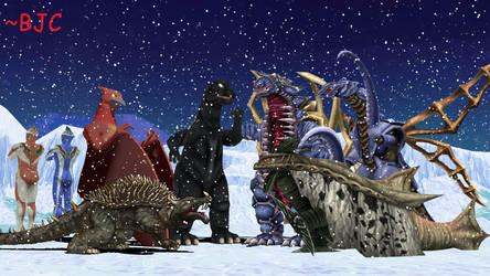 [MMD] Kaiju Christmas 2018 by BigJohnnyCool