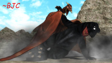 [MMD] Godzilla's Revenge What-If Battle #1 by BigJohnnyCool
