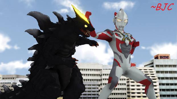[MMD] Ultraman X vs Demaaga