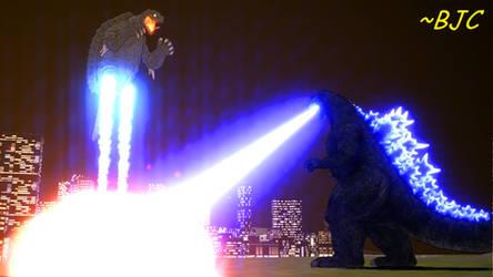 [MMD] Godzilla vs Gamera