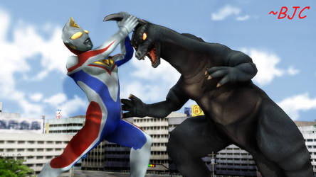 [MMD] Ultraman Dyna vs Arstron