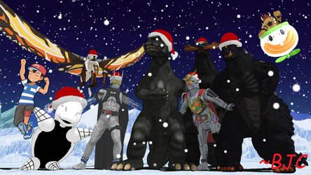 [MMD] Kaiju Christmas 2019