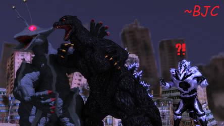 [MMD] Godzilla vs. Monster X... Sorta