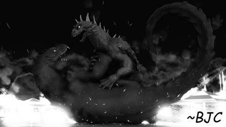 [MMD] Varan vs. Rhedosaurus