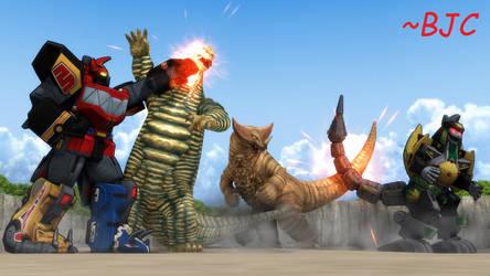 [MMD] Zords vs. Kaiju