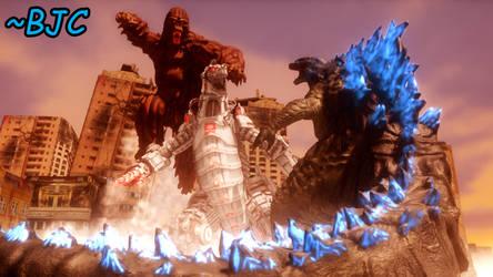 [MMD] Godzilla and Kong vs. Mechagodzilla