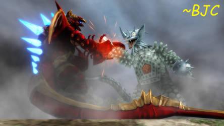 [MMD] Tyrant vs. Five King