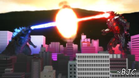 [MMD] Kaiju Beam Battle