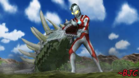 [MMD] Ultraman Ace vs. Hanzagiran