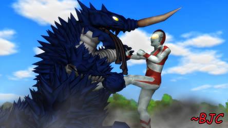 [MMD] Ultraman 80 vs. Gymaira