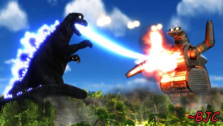 [MMD] Godzilla vs. Moguera