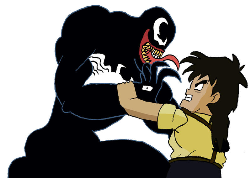 Gohan vs. Venom by BigJohnnyCool