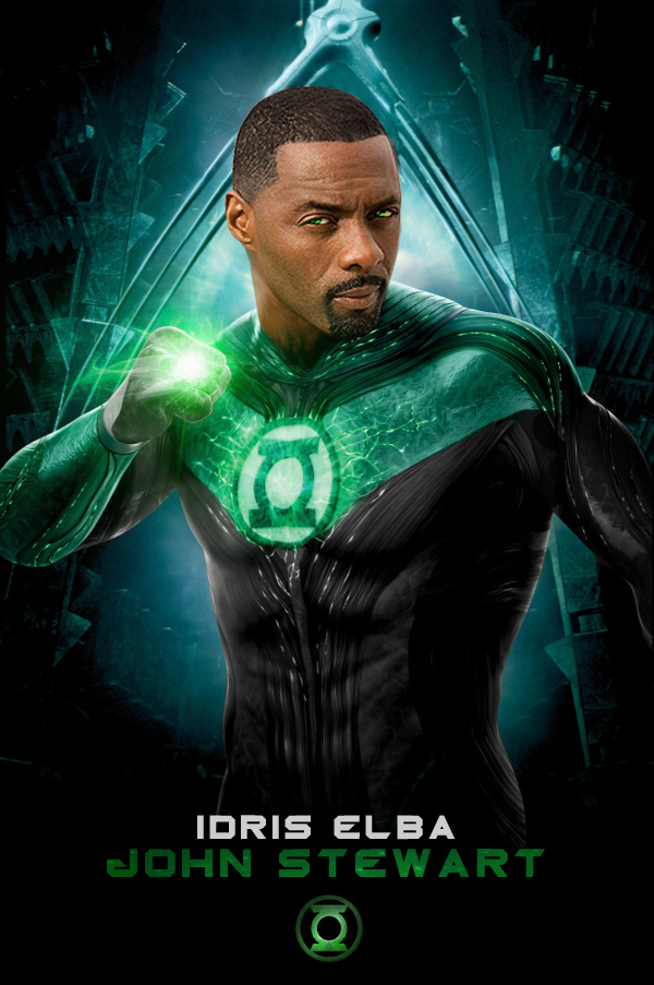 Green Lantern Idris Elba by poumap