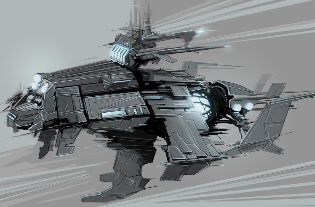 Battle Ship concept by Skylow