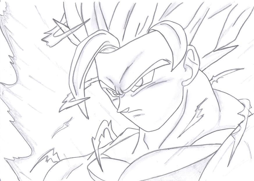 Dragon Ball Z Drawing Goku Ssj3 Viral News