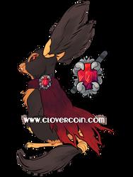 Custom Lintling: Vampire Glider by CloverCoin