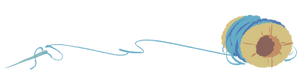 Pillowingpile-dividerart-bluethread-web by CloverCoin