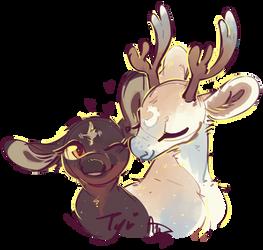 Deer me kisses by CloverCoin