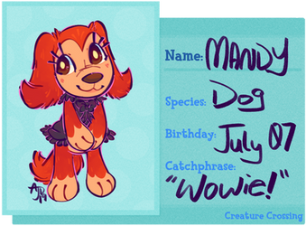 [Creature Crossing] Mandy Profile by CloverCoin