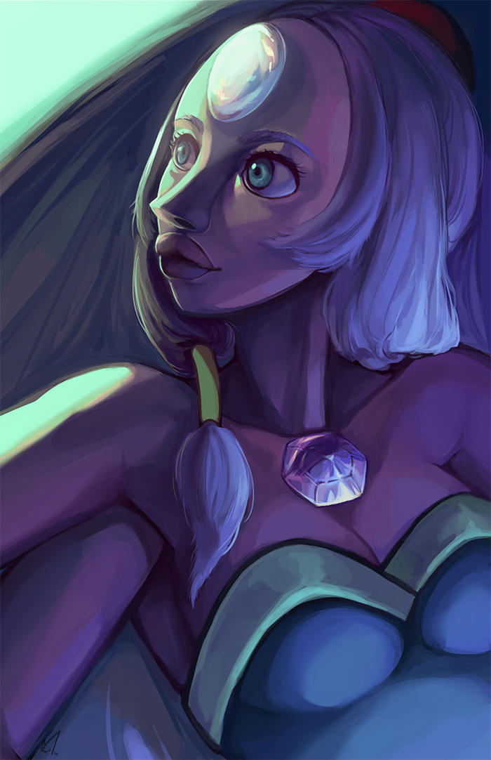 Opal from Steven Universe.  Watch me paint her here:  youtu.be/C6NLQv4T_6w