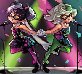 Splatoon: Squid Sisters by ArtofCelle