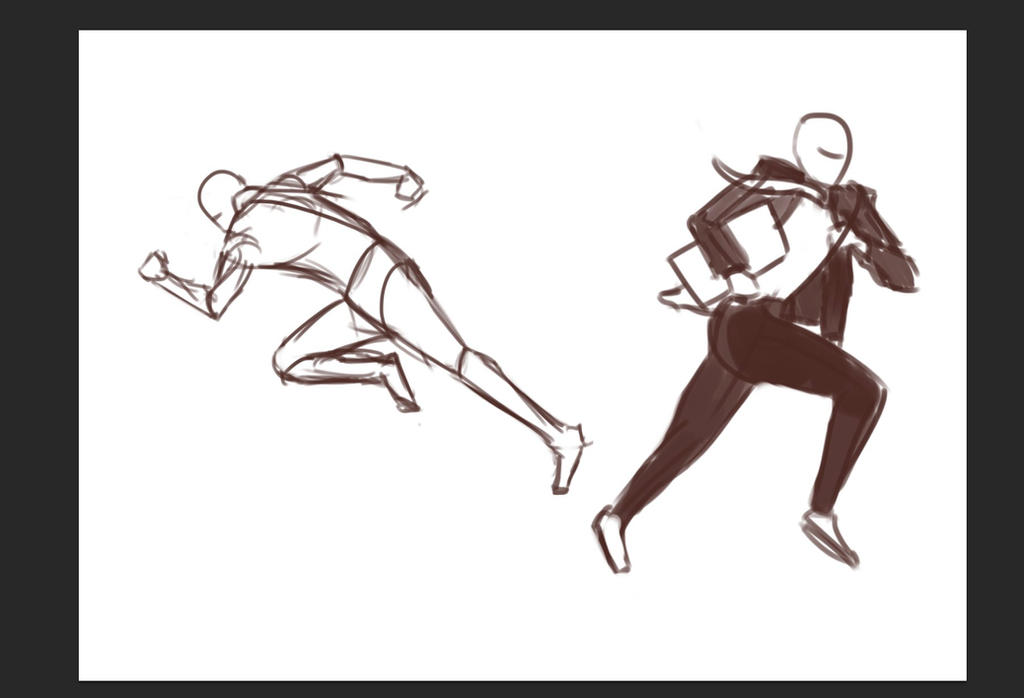 how to draw a running pose