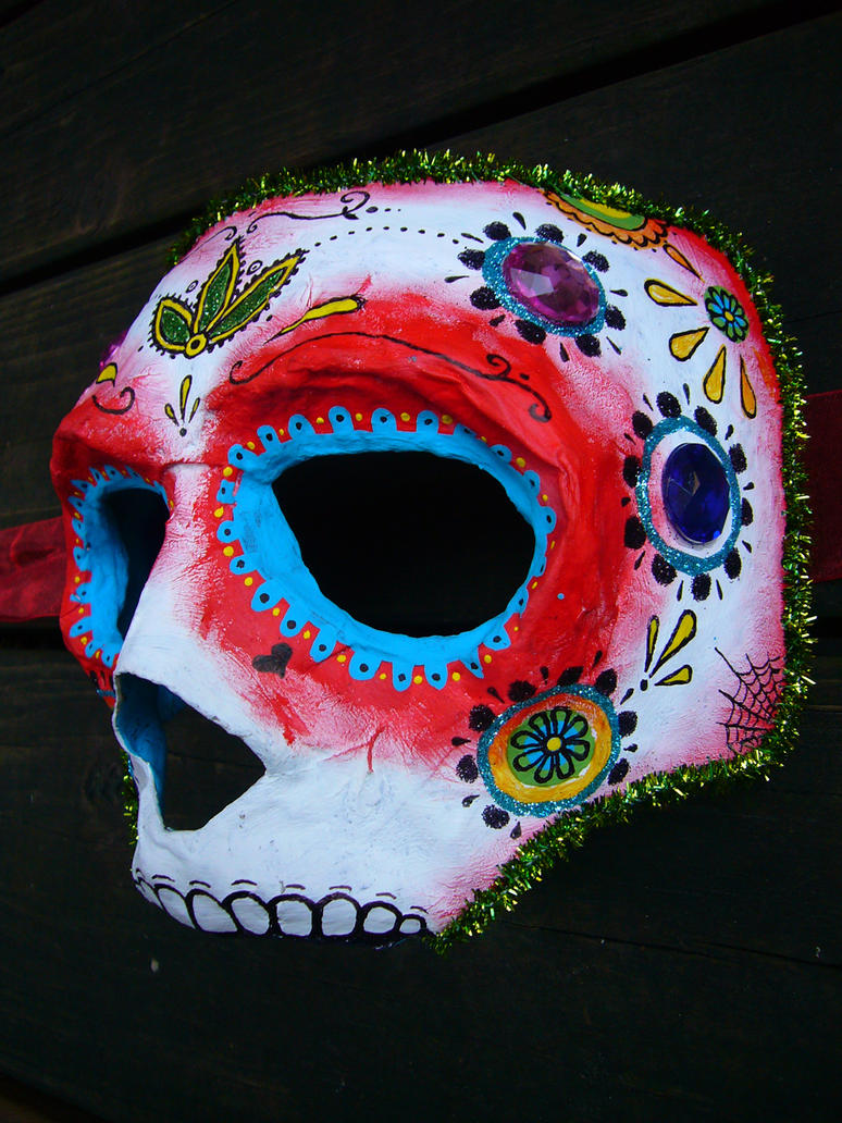 day of the dead mask by eesss on DeviantArt