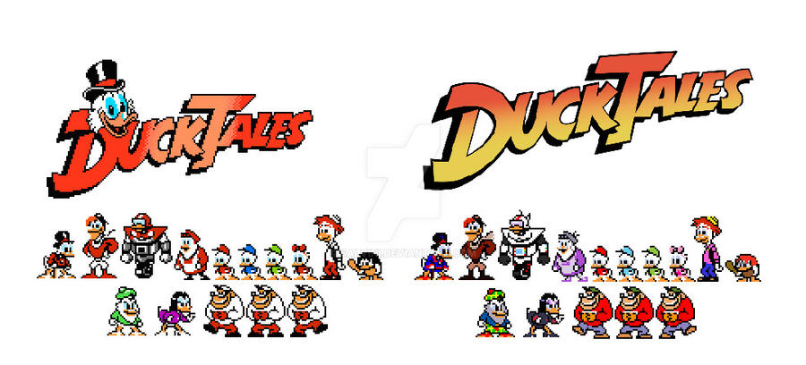 Ducktales Original Vs Recolored by Salvini on DeviantArt