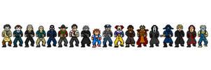 Slasher Icons in 8-bit