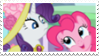 Rarity x Pinkie Pie - Stamp by RedVelvetKittens